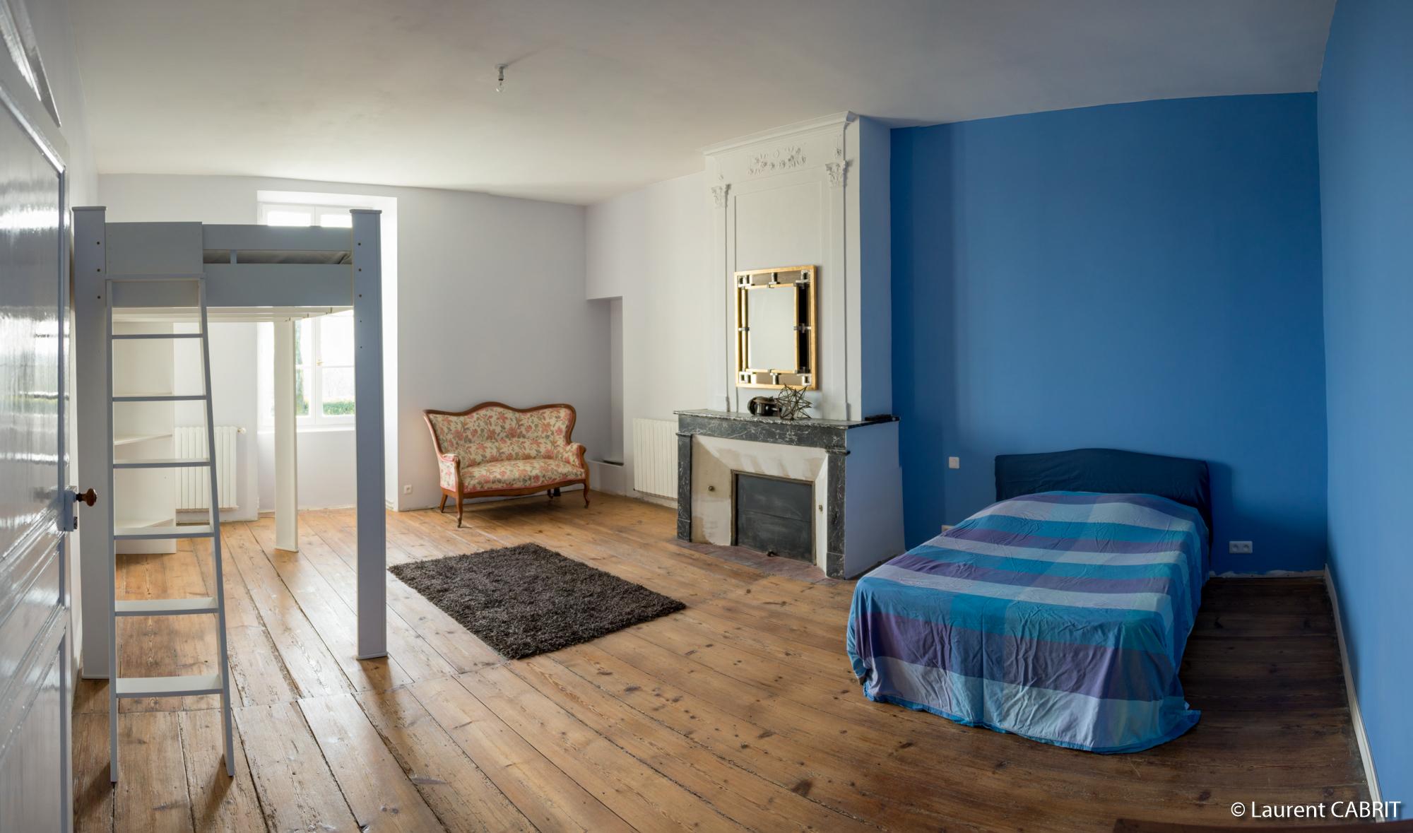 Chambre Bleue M² Lit Double X Lit Double X - Lit double superpose 140 x 190
