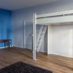 Chambre Bleue 34 m² - Lit Double 140x200 + Lit Double 140x200 Mezzanine - [Location Langoiran Bordaux Ligassonne]