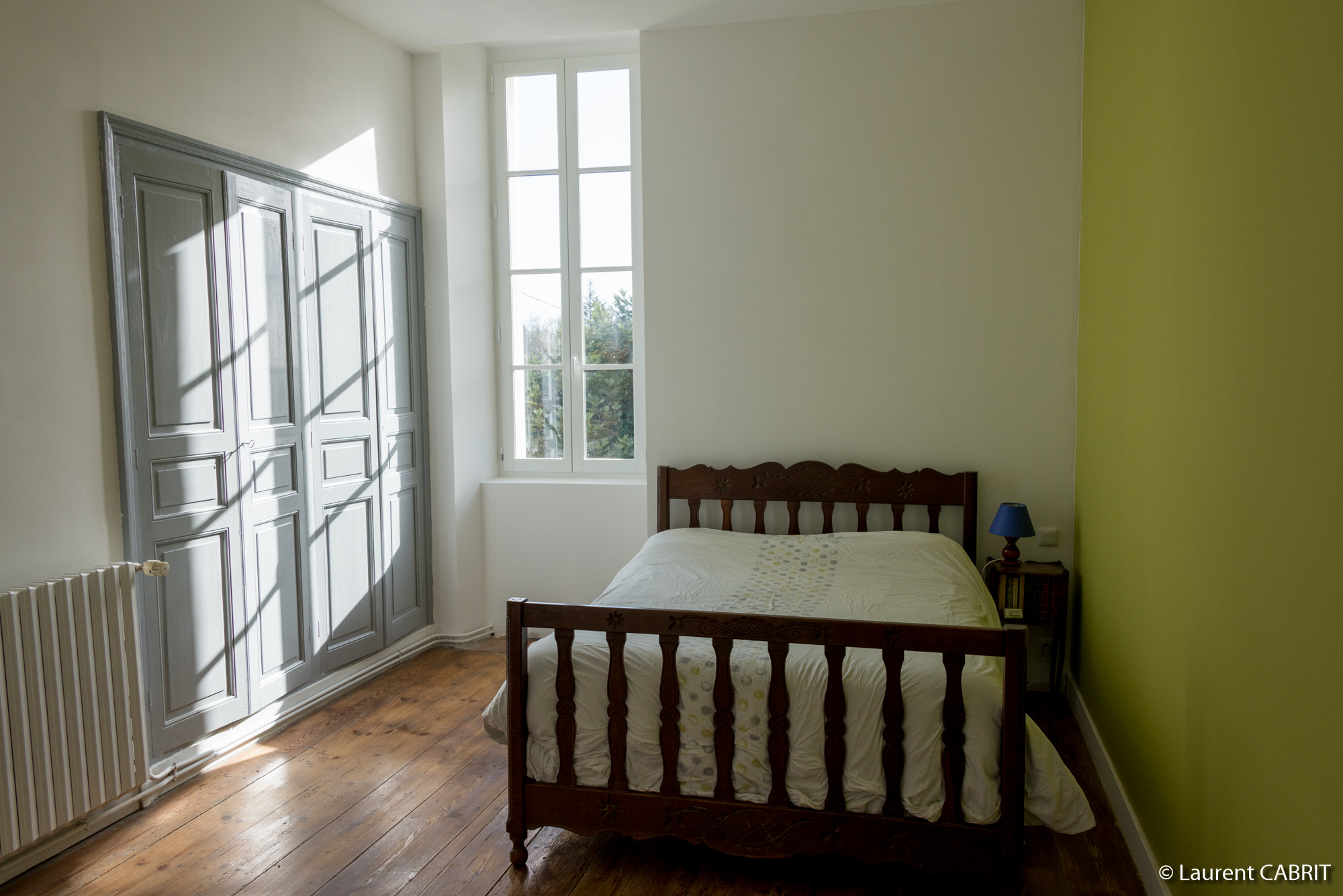 Chambre Verte 14 m² - Lit Double 140x190 - [Location Langoiran Bordaux Ligassonne]