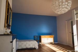 Chambre Bleue, Lit double - [Location Langoiran Bordaux Ligassonne]