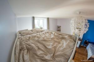 Chambre Bleue, Lit double Mezzanine - [Location Langoiran Bordaux Ligassonne]