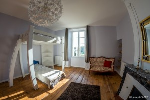 Chambre Bleue, Lit simple - [Location Langoiran Bordaux Ligassonne]