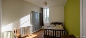 Chambre Verte (1 lit double + 1 lit bébé) - [Location Langoiran Bordaux Ligassonne]