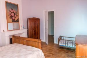 Chambre Rose (1 lit double + 1 lit enfant) - [Location Langoiran Bordaux Ligassonne]